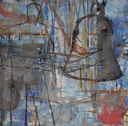 Graham Fransella: Figure and bell :: Dobell Prize for Drawing 2012 :: Art Gallery NSW