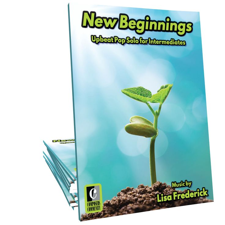 New Beginnings is an upbeat and uplifting contemporary pop-style solo by Canadian composer Lisa Frederick. This selection will delight intermediates of all ages and makes a great recital or festival piece.