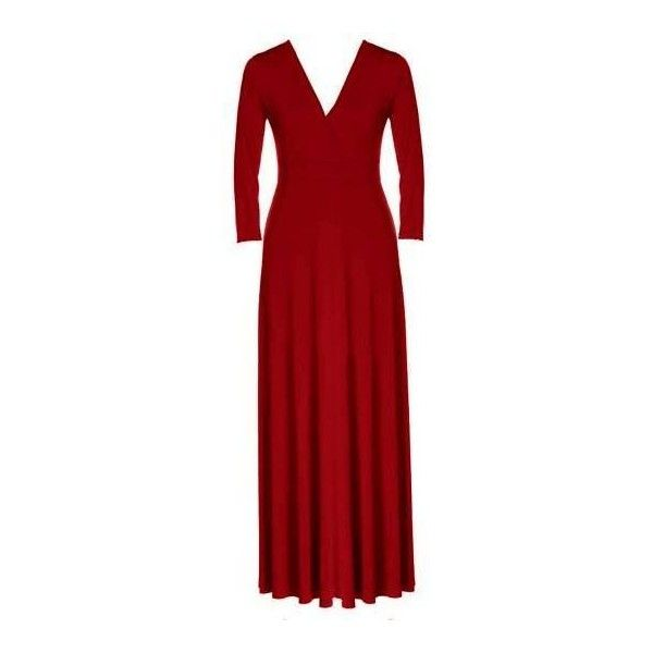 Yoins Plus Size Red Plunge V-Neck Maxi Dress ($25) ❤ liked on Polyvore featuring dresses, empire waist maxi dress, plus size empire waist dress, empire waist dress, red dress and plunging v neck dress
