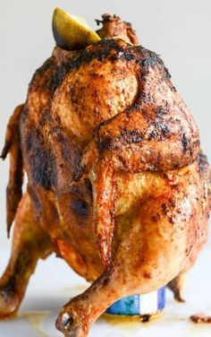 how to make beer can chicken in smoker