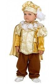 Erkek Bebek Kral Kostümü Sarı
