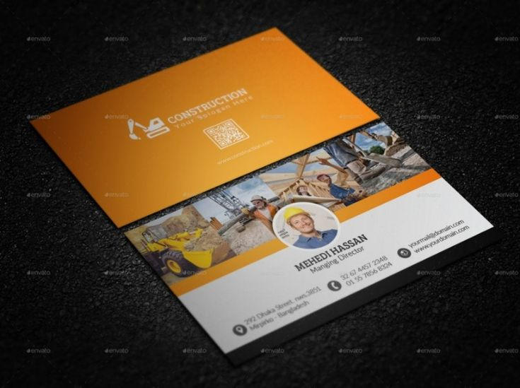 30 Best 25+ Construction Business Card Template PSD And InDesign Format Images On Pinterest