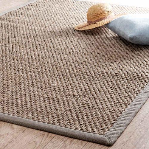 Beige gevlochten sisal BASTIDE tapijt 140 x 200 cm