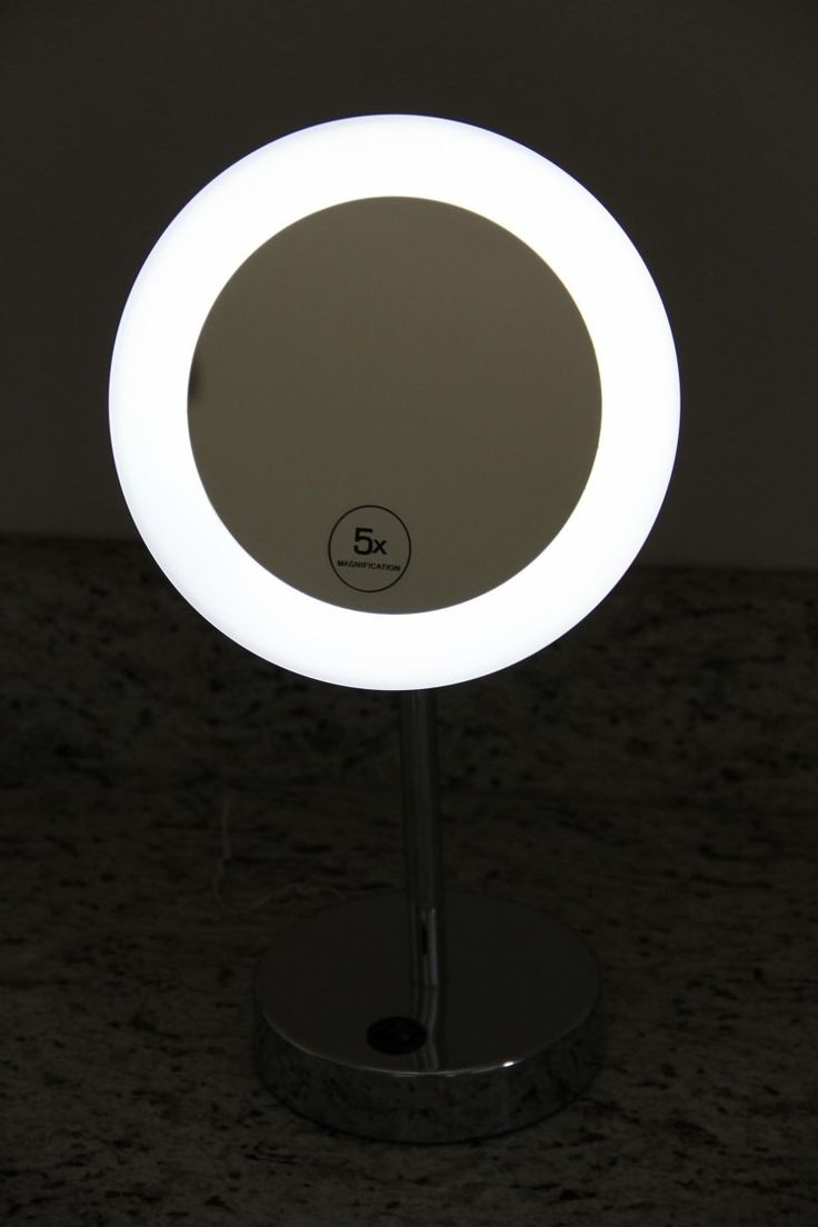 Lighted vanity mirror make up wall mounted led bath mirror mam94331 - Led Illuminated 8 Make Up Mirror