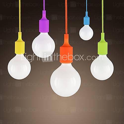 [EUR € 16.49] mini hanger, 1 licht, modern minimalistisch siliconen snoep kleuren