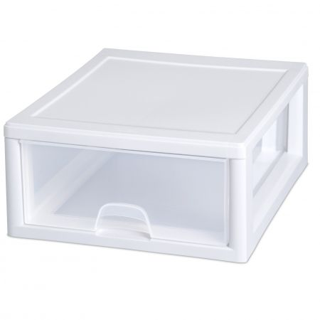 Howards Storage World | Clear Stacking 15L Drawer