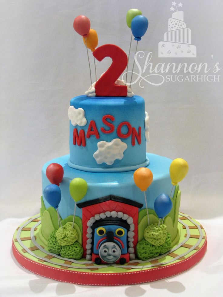 how to make thomas the train cake with fondant
