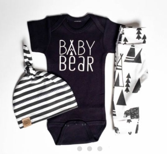 Baby bear onesie.cute baby boy clothes