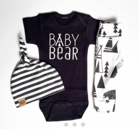 Baby bear onesie.cute baby boy clothes