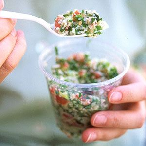This traditional Lebanese salad of cracked wheat and parsley is popular throughout the Middle East.