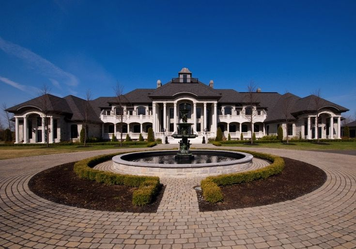 Multi million dollar estate dream home mansion white with for Home builders in canada