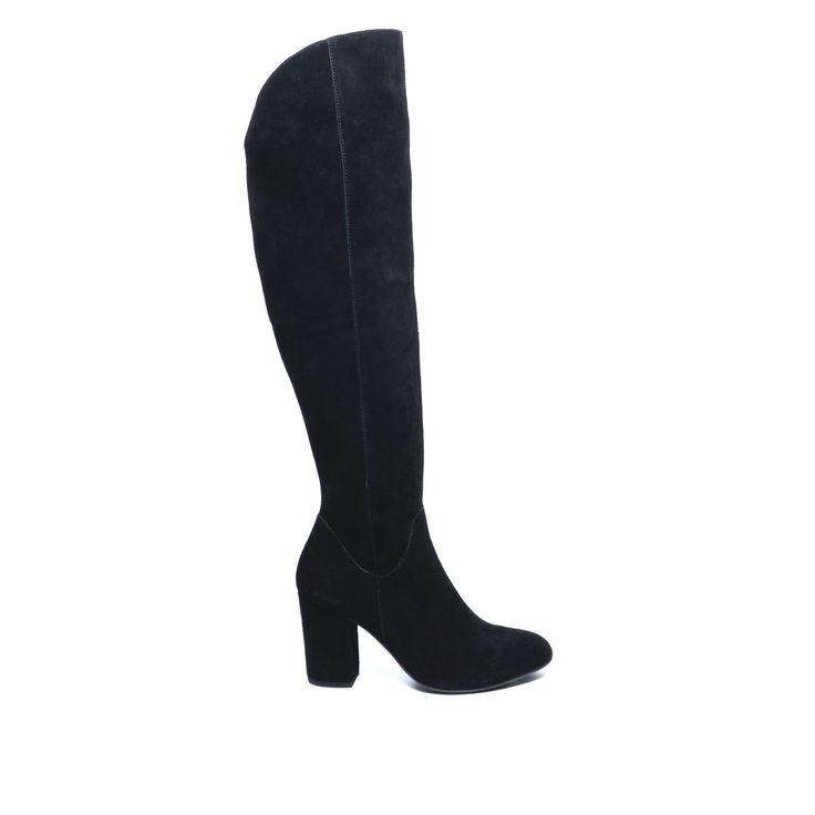 Overknee boots suède zwart #overknee laarzen #laarzen #heels