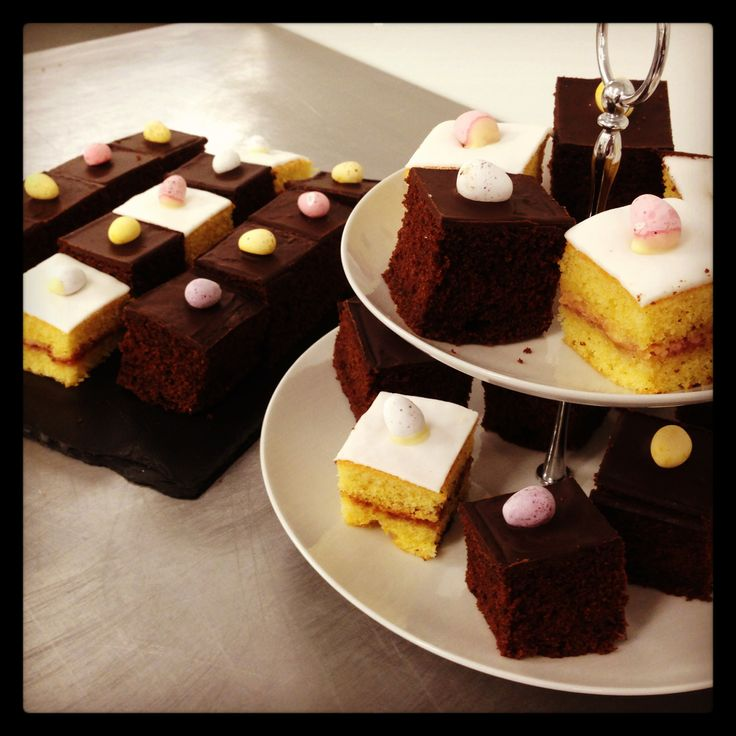 Happy Early Easter! As a little suprise treat to our lovely customers who have a buffet on order today, the chefs have made some delicious Easter egg cakes