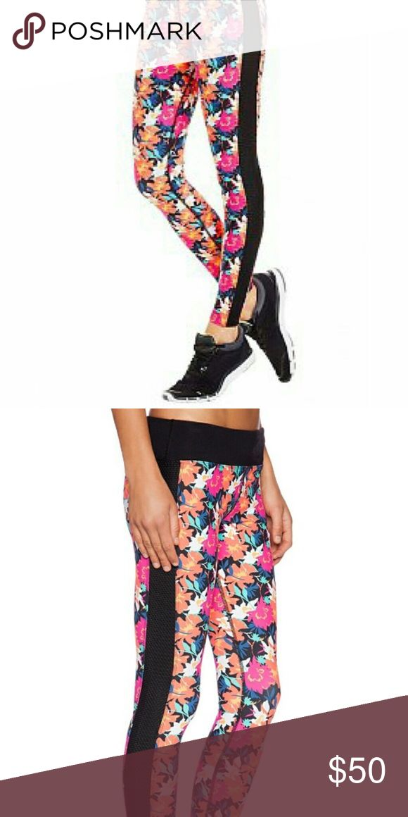 Lorna Jane LIMITED EDITION prom queen leggings xs Beautiful Floral yoga leggings. Has mesh on sides. Full length. In MINT condition. Lorna Jane Pants Leggings