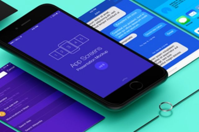 This is the iphone 6 version of our mobile app screen flow perspective app screens psd mockup. Easily display a comprehensive...