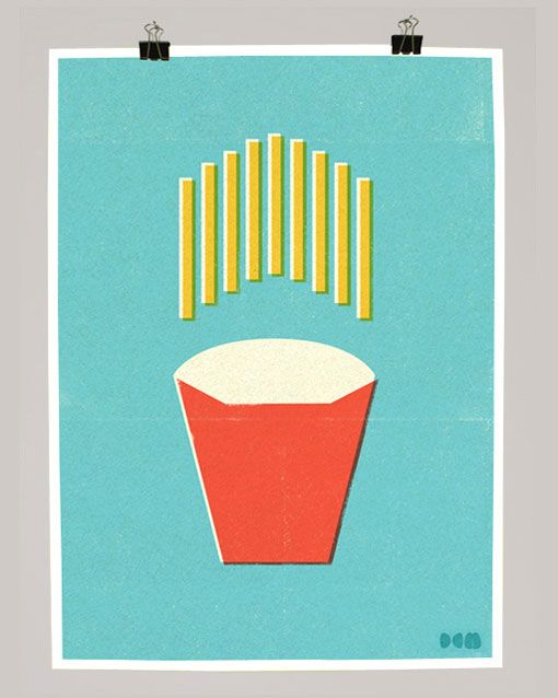 deconstructed french fries by Dale Edwin Murray via designworklife