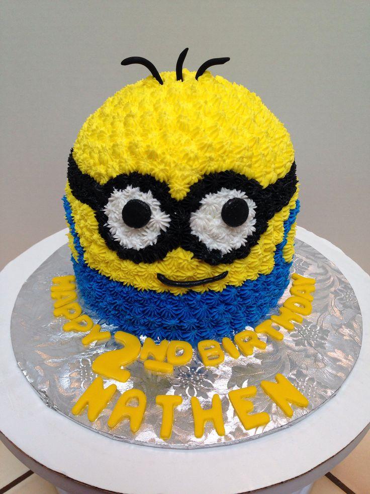 Minion buttercream smash cake minions pinterest smash cakes cake and minion cakes - Cake decorations minions ...