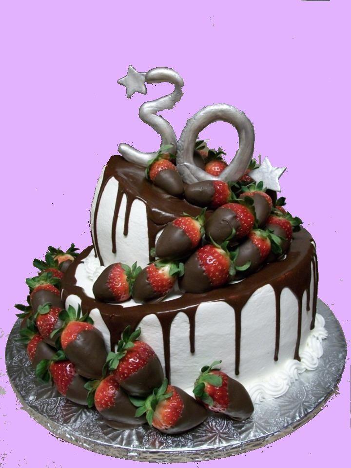 Torte particolari compleanno. Una cascata di cioccolato e fragole per una particolare wonkey cake