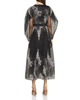 3317d418c BCBGMAXAZRIA - Embroidered Organza Midi Dress   BCBG FASHION ...