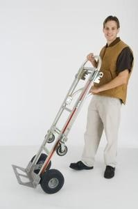 How to Get a Refrigerator Upstairs: An appliance dolly is essential to moving a refrigerator upstairs.