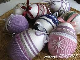 Znalezione obrazy dla zapytania jaja wielkanocne ze sznurka