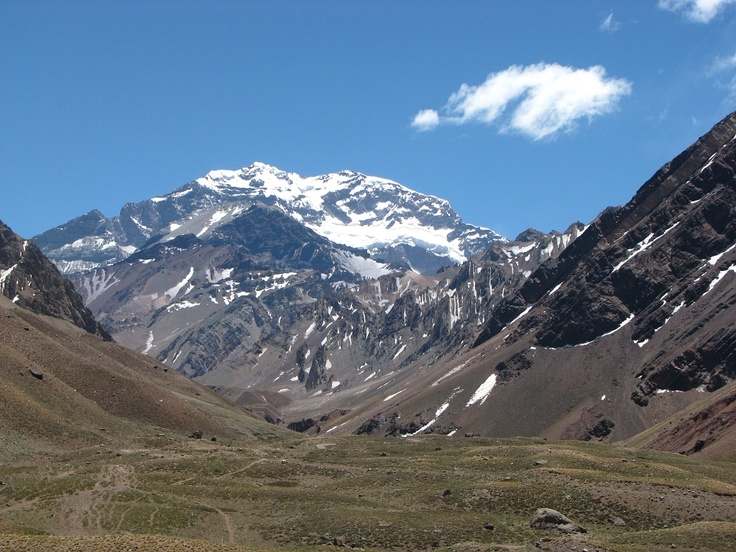 Aconcagua...  The highest mountain peak in the WORLD! (...outside of the Himalayas).  I was here with my friends, Sergio and Pablo, on a drive from Mendoza, Argentina to Vina del Mar, Chile.