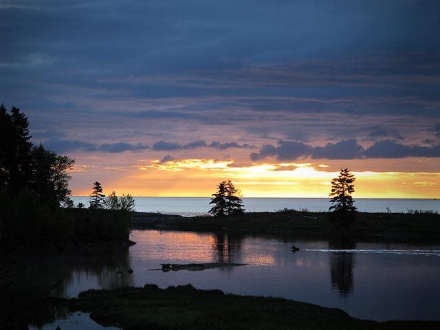 Awesome sunset from our camping spots http://www.cabotshores.com/