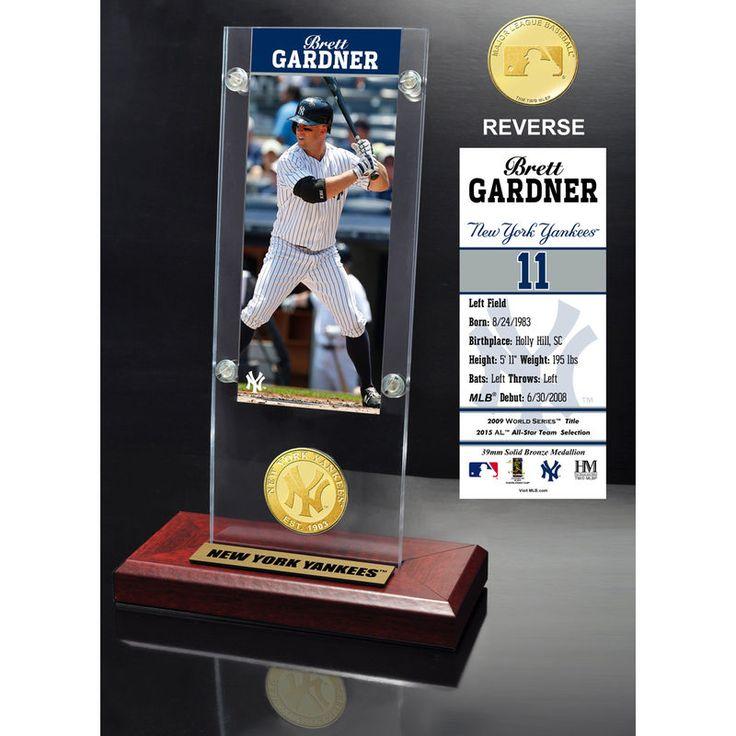 Brett Gardner New York Yankees Highland Mint Player Ticket Acrylic