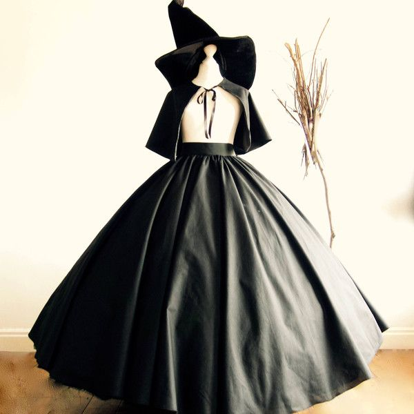 Halloween Adult Evil Witch Costume,Skirt Cape, includes Free Witches... ($163) ❤ liked on Polyvore featuring costumes, adult halloween costumes, adult women costumes, women's halloween costumes, witch halloween costume and scary adult halloween costumes