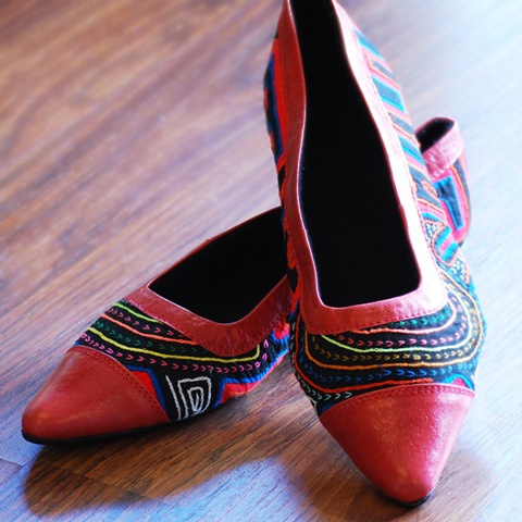 Shoes from Koguis, ethically made in Colombia.