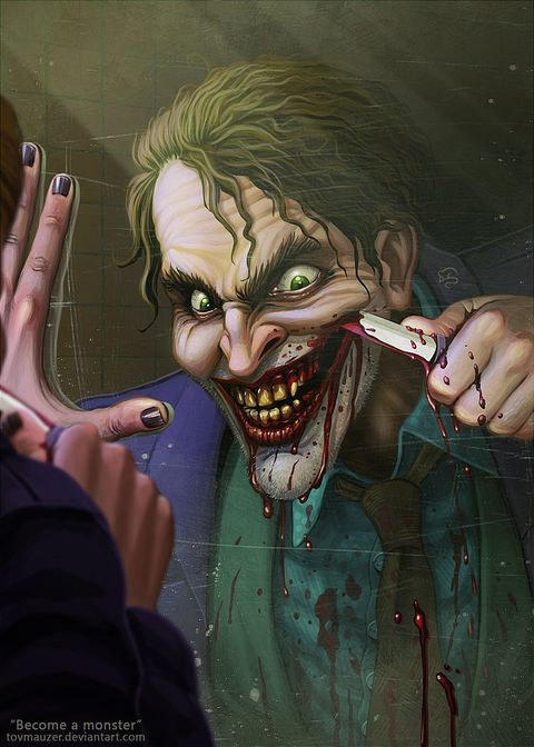 Here Are 15 of the Creepiest and Most Badass Pieces of Joker Fan Art | moviepilot.com You wanna know how I got these scars?
