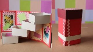 Caja con cajones - Guarda regalo - Dia de los enamorados, via YouTube.