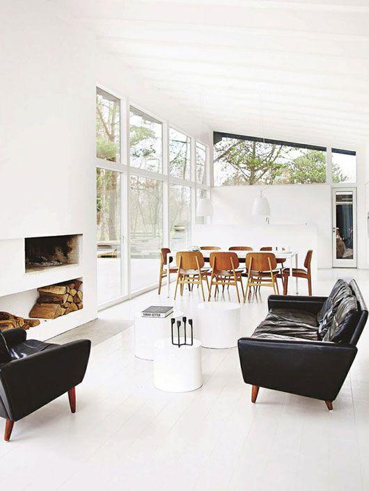 White parquet floor