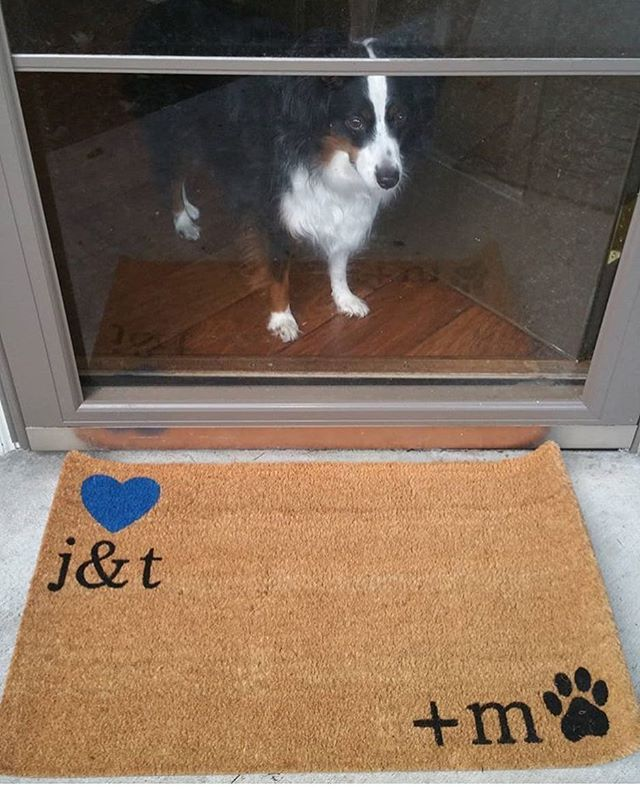 Custom Initials Personalized Doormat Personalized Door Mats Dog