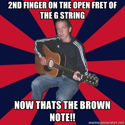 inspired by my many years as a guitar tutor... My first ever meme creation - web design Central Coast Bullet Websites