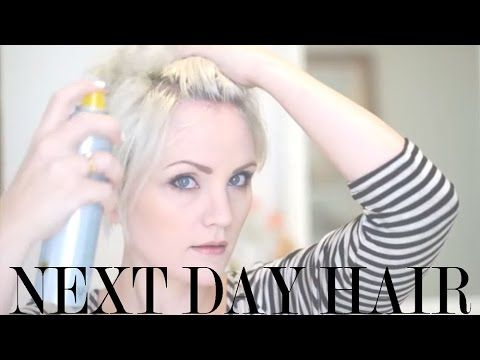How to Style Next Day Hair [tutorial] - Whippy Cake