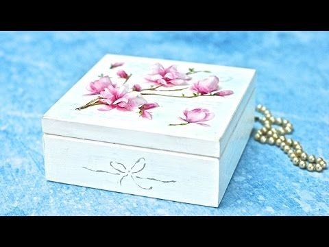 Decoupage 3D z folią sospeso - magnolie - tutorial DIY - YouTube