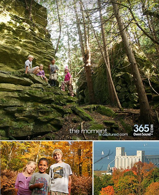 Hiking the west rocks in Owen Sound. photography by robby breadner.