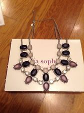 Lia Sophia Cosmic Dust Necklace RV $168 NEW!!