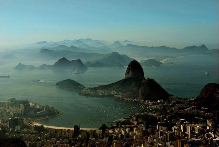 rio de janeiro brazil skyline aerial