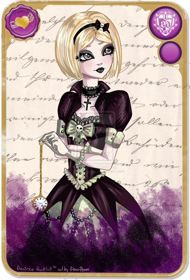Beatrice Darkfall in Ever After High. by DianaDemon on @deviantART