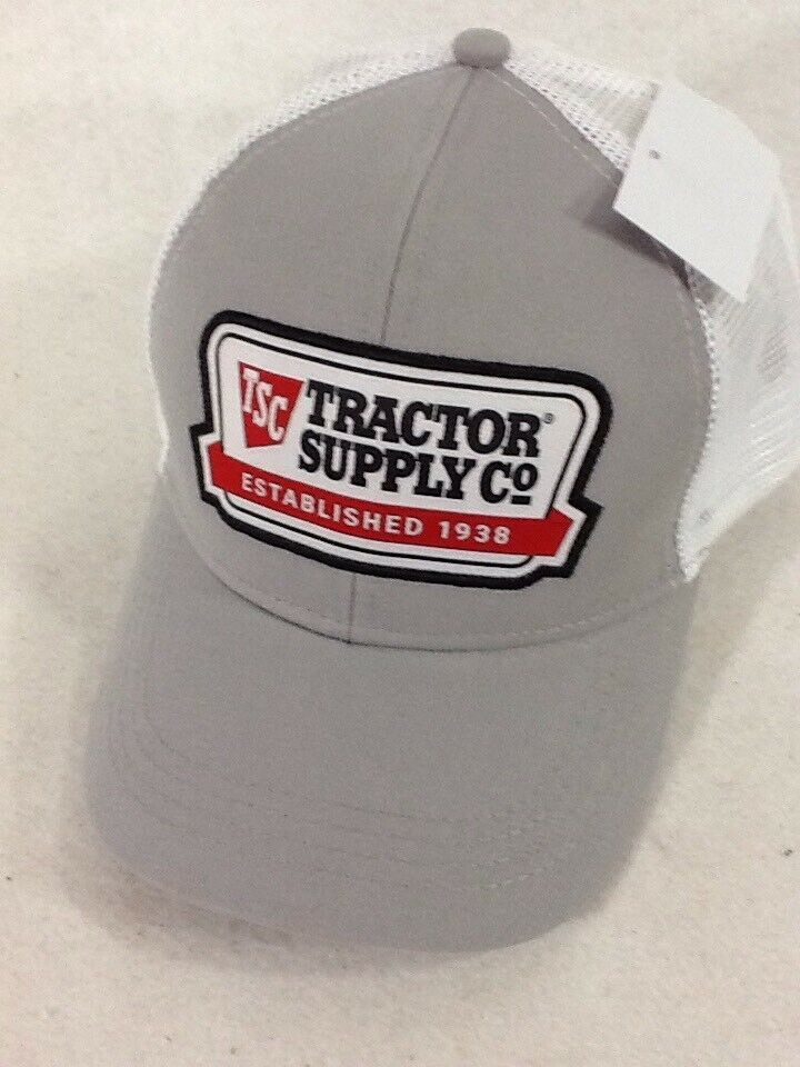 dab409e4640 Tractor Supply Cap TSC Strapback Grey White Ventilated Patch NEW Baseball  Farm #TractorSupply #BaseballCap #Casual
