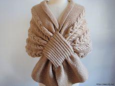 Красивый шарф - накидка..