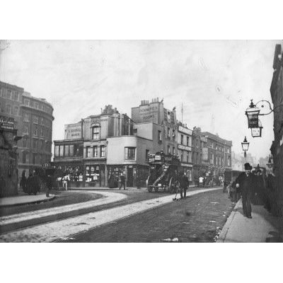 View of Elephant & Castle looking from Walworth Road, circa 1898.