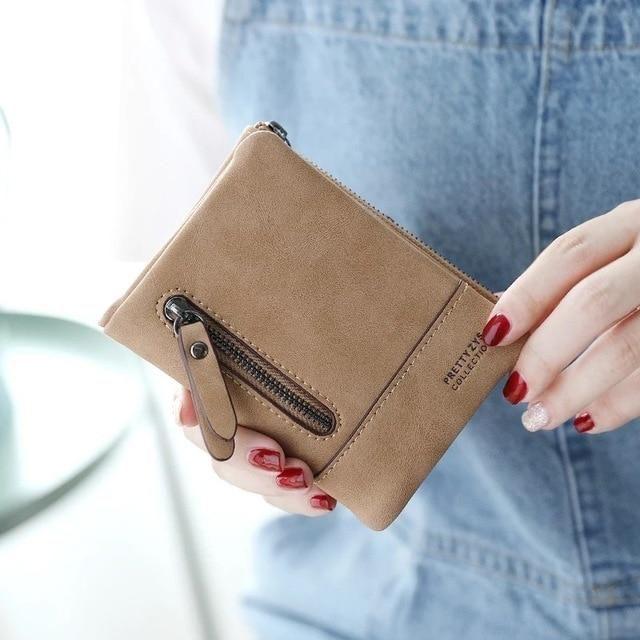 Prettyzys Kreative Pu-leder Frauen Brieftasche Mode kurze beiläufige Weibliche Dünne geldbörse Kartenhalter kleine kupplung Mini geld tasche