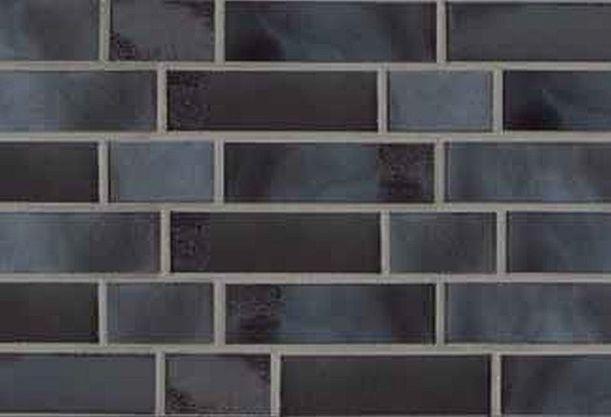 Klinker Riemchen aus TON gebrannt Blau braun Kohle NF ca.240x71x14 mm SOPO…