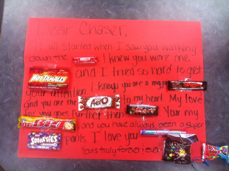 poster board with candy bars for father's day