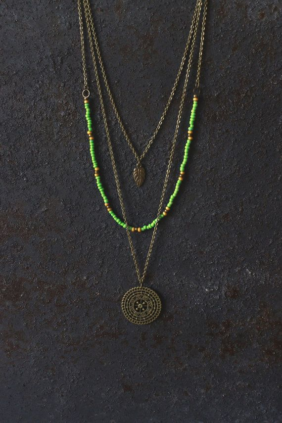 Boho necklace layered necklace set hippie by AnankeJewelry on Etsy