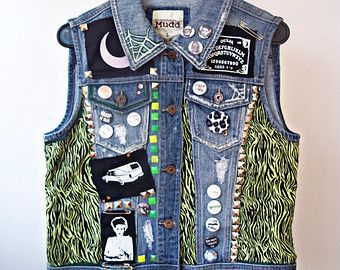 Horror Punk Vest // Stay Creepy Crust Punk // Witchy Death Tarot Card Vest