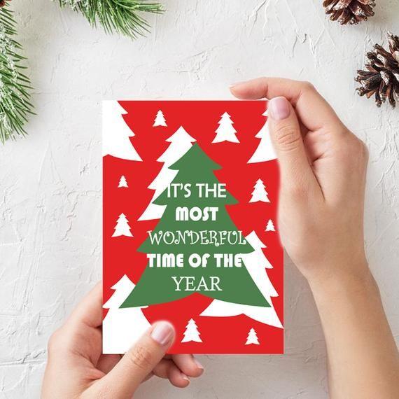 Christmas Card Merry Christmas Digital Christmas Card Image 1